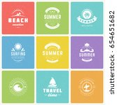 summer holidays design elements ... | Shutterstock .eps vector #654651682