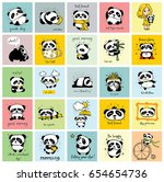 big set of vector cards with... | Shutterstock .eps vector #654654736