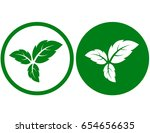 eco sign with three green... | Shutterstock .eps vector #654656635