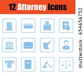 set of attorney  icons. blue... | Shutterstock .eps vector #654656752
