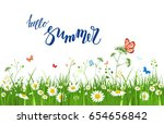 it's summer time quote. summer... | Shutterstock .eps vector #654656842