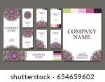vector template business card.... | Shutterstock .eps vector #654659602