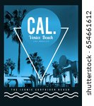photo print california... | Shutterstock . vector #654661612