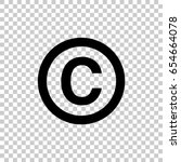 copyright symbol isolated on... | Shutterstock .eps vector #654664078