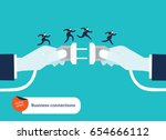 businessmen's hand connecting... | Shutterstock .eps vector #654666112