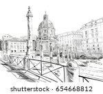 the trajan's column. roman...   Shutterstock .eps vector #654668812