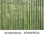 Grunge Green Bamboo Fence