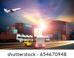 logistics and transportation of ...   Shutterstock . vector #654670948