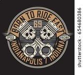 Racing Motorcycle Skull...