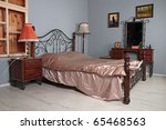 bedroom with gray to walls  a...   Shutterstock . vector #65468563