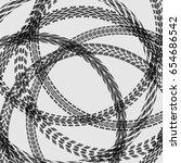 different black tire tracks... | Shutterstock .eps vector #654686542