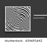 tunnel. optical illusion. black ... | Shutterstock .eps vector #654691642