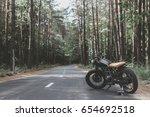 Black Vintage Custom Motorcycle ...