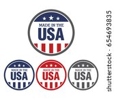 vector set of made in the usa... | Shutterstock .eps vector #654693835