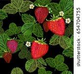 vector illustration of seamless ... | Shutterstock .eps vector #654704755