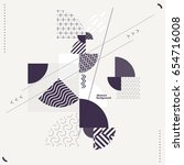 abstract modern geometric... | Shutterstock .eps vector #654716008