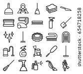 cleaner icons set. set of 25... | Shutterstock .eps vector #654718258