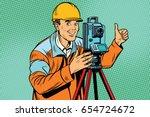 builder surveyor with a...