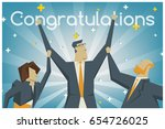 congratulations background.... | Shutterstock .eps vector #654726025