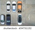empty parking lots  aerial view. | Shutterstock . vector #654731152