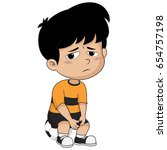 he was disappointed and regret... | Shutterstock .eps vector #654757198