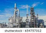 industrial zone the equipment... | Shutterstock . vector #654757312