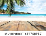beach background and free space ... | Shutterstock . vector #654768952