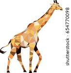 polygonal giraffe  polygon... | Shutterstock .eps vector #654770098