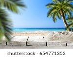 beach background  | Shutterstock . vector #654771352