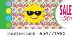 summer sale banner vector... | Shutterstock .eps vector #654771982