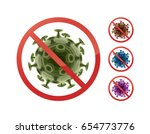set of stop prohibit signs on... | Shutterstock .eps vector #654773776