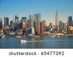 new york city skyline panorama... | Shutterstock . vector #65477392