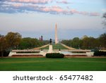 National Mall With Washington...