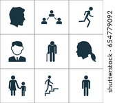 human icons set. collection of... | Shutterstock .eps vector #654779092