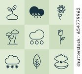 harmony icons set. collection... | Shutterstock .eps vector #654779962