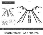 road vector line icon isolated... | Shutterstock .eps vector #654786796