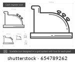 cash register vector line icon...   Shutterstock .eps vector #654789262