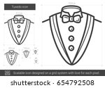 tuxedo vector line icon... | Shutterstock .eps vector #654792508