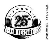25 years anniversary design...   Shutterstock .eps vector #654794836