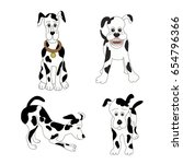 vector of dogs set.sitting ... | Shutterstock .eps vector #654796366