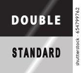 double standard cover words   Shutterstock .eps vector #654799762