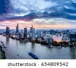 ho chi minh city  aerial view   ... | Shutterstock . vector #654809542