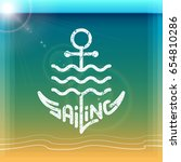 sailing logo template design... | Shutterstock .eps vector #654810286