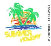 abstract grunge summer holiday... | Shutterstock .eps vector #654819016