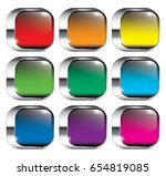 set of rounded square... | Shutterstock .eps vector #654819085