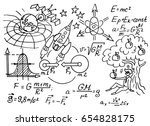 the law of force of gravity.... | Shutterstock .eps vector #654828175