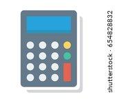 calculater | Shutterstock .eps vector #654828832