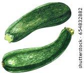 Fresh Green Zucchini Or...