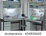 interior of a modern biological ... | Shutterstock . vector #654833605