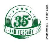 35 years anniversary design... | Shutterstock .eps vector #654841306